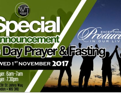 One Day Prayer & Fasting