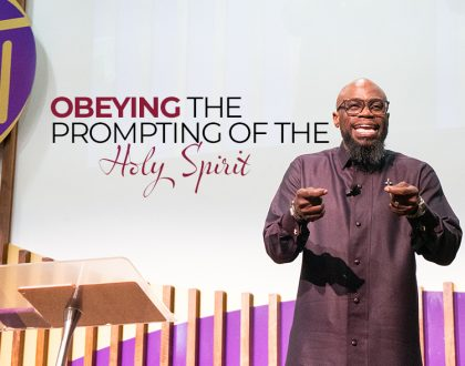 Obeying the Prompting of the Holy Spirit