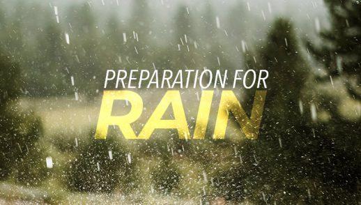 Preparation for Rain