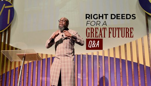 Right Deeds for a Great Future - Q&A